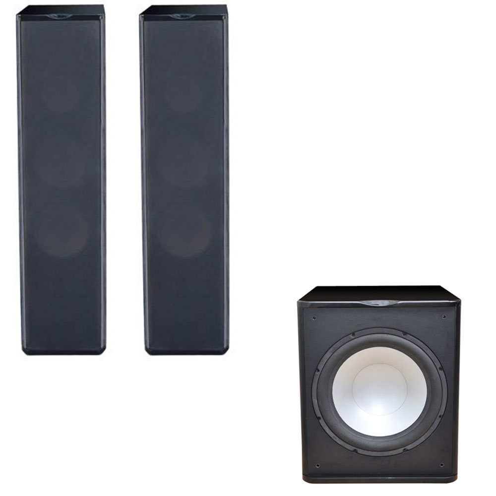 2 Premier Acoustic PA-6F Tower Speakers with 1 PA-150 15-inch Subwoofer