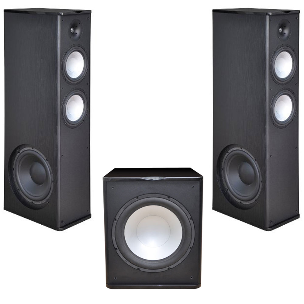 2 Premier Acoustic PA-8.12 Tower Speakers with 1 PA-150 15-inch Subwoofer