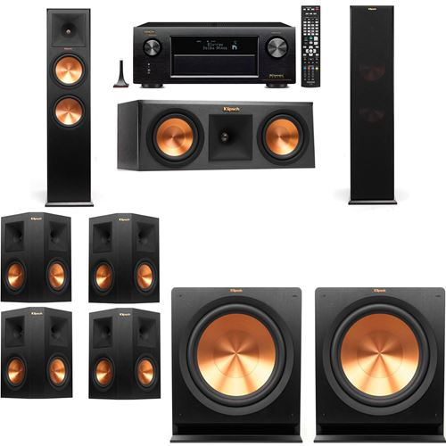 Klipsch RP-280F Tower Speakers-R112SW-7.2-Denon AVR-X3200W