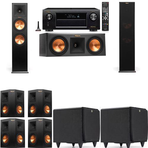 Klipsch RP-280F Tower Speakers-RP-250C-SDS12 -7.2-Denon AVR-X3200W