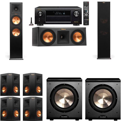 Klipsch RP-280F Tower Speakers-RP-250C-PL-200-7.2-Denon AVR-X3200W