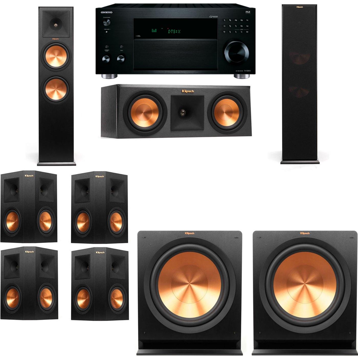 Klipsch RP-280F Tower Speakers-RP-250C-7.2-Onkyo TX-RZ810