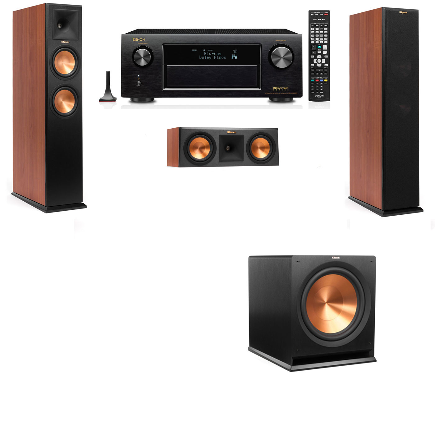 Klipsch RP-260F Tower Speakers CH-3.1-Denon AVR-X3200W