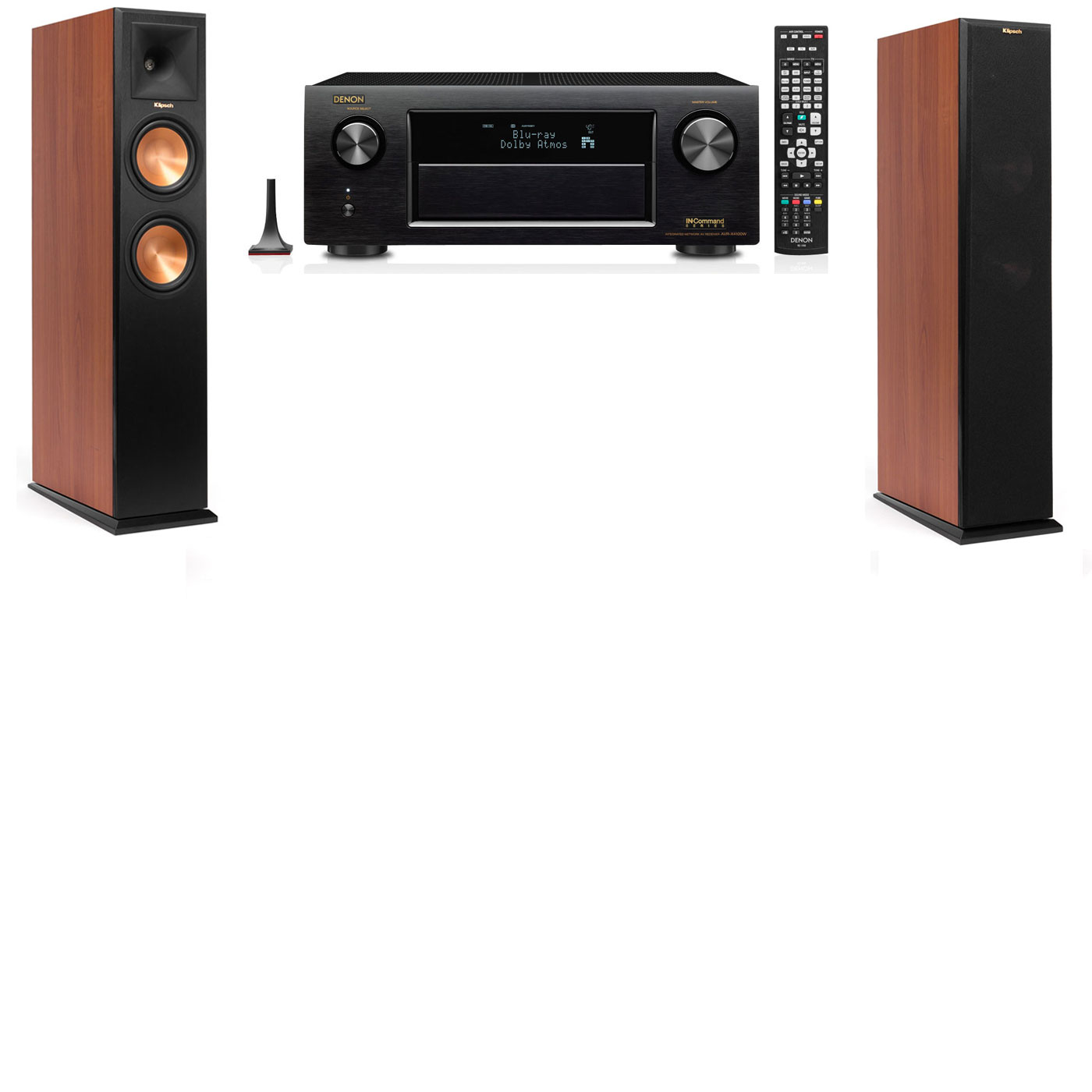 Klipsch RP-260F CH Tower Speakers-Denon AVR-X3200W