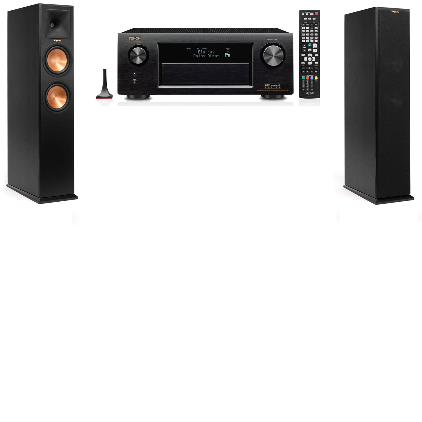 Klipsch RP-260F Tower Speakers-Denon AVR-X3200W