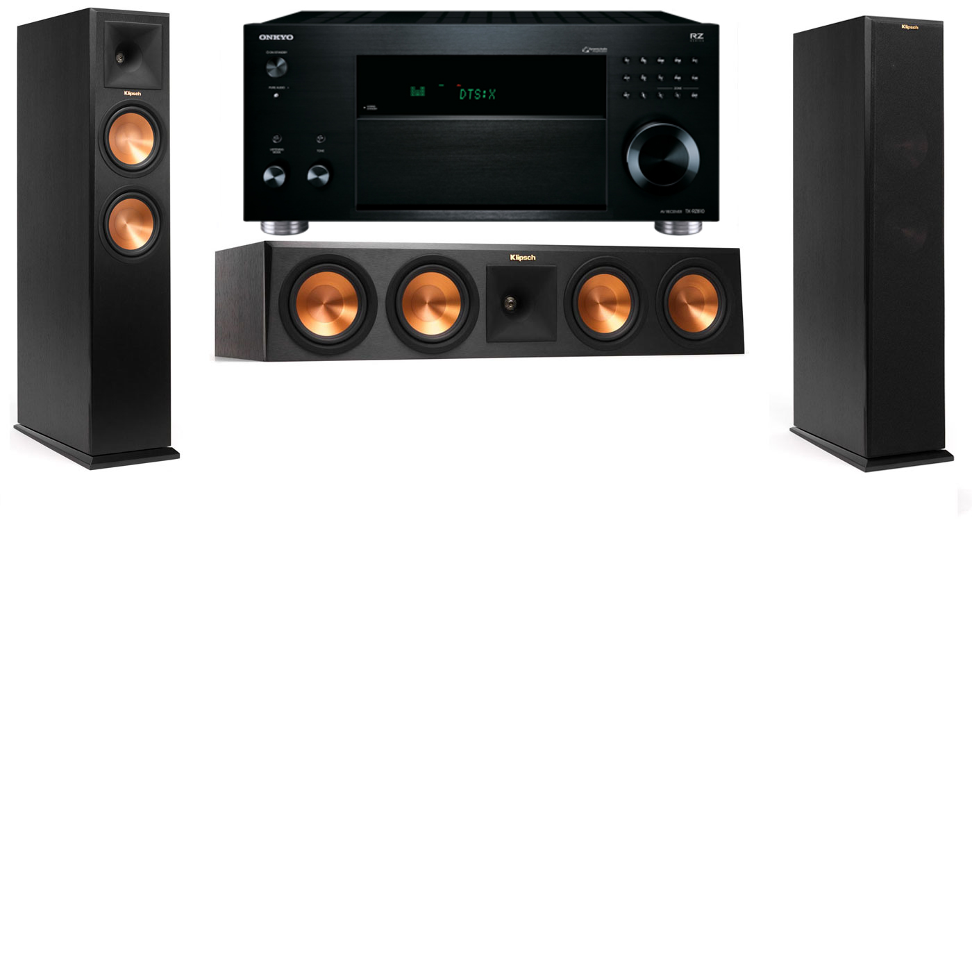 Klipsch RP-260F Tower Speakers-3.0-Onkyo TX-RZ810