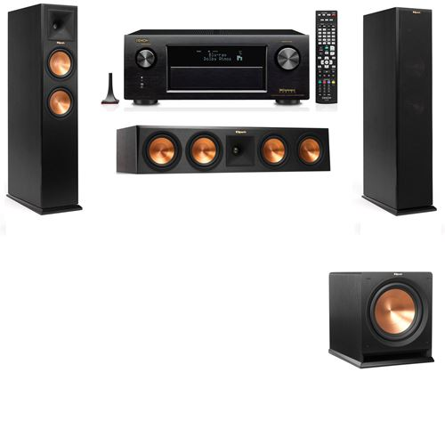 Klipsch RP-260F Tower Speakers-R112SW-3.1-Denon AVR-X3200W