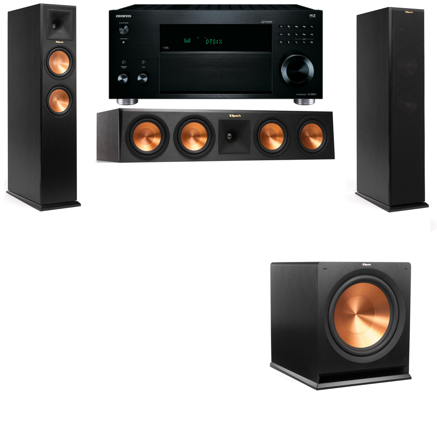 Klipsch RP-260F Tower Speakers-3.1-Onkyo TX-RZ810