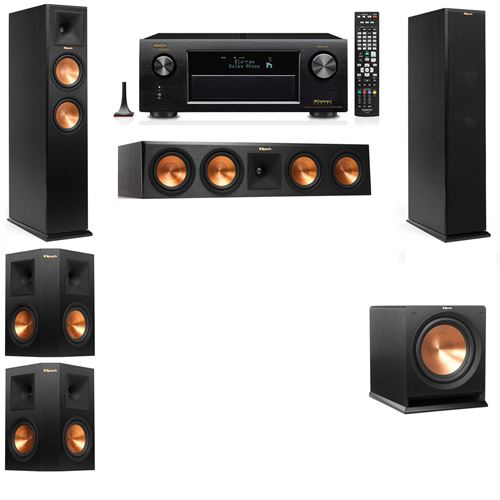 Klipsch RP-260F Tower Speakers-R112SW-5.1-Denon AVR-X3200W