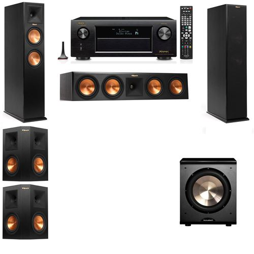 Klipsch RP-260F Tower Speakers-PL-200-5.1-Denon AVR-X3200W