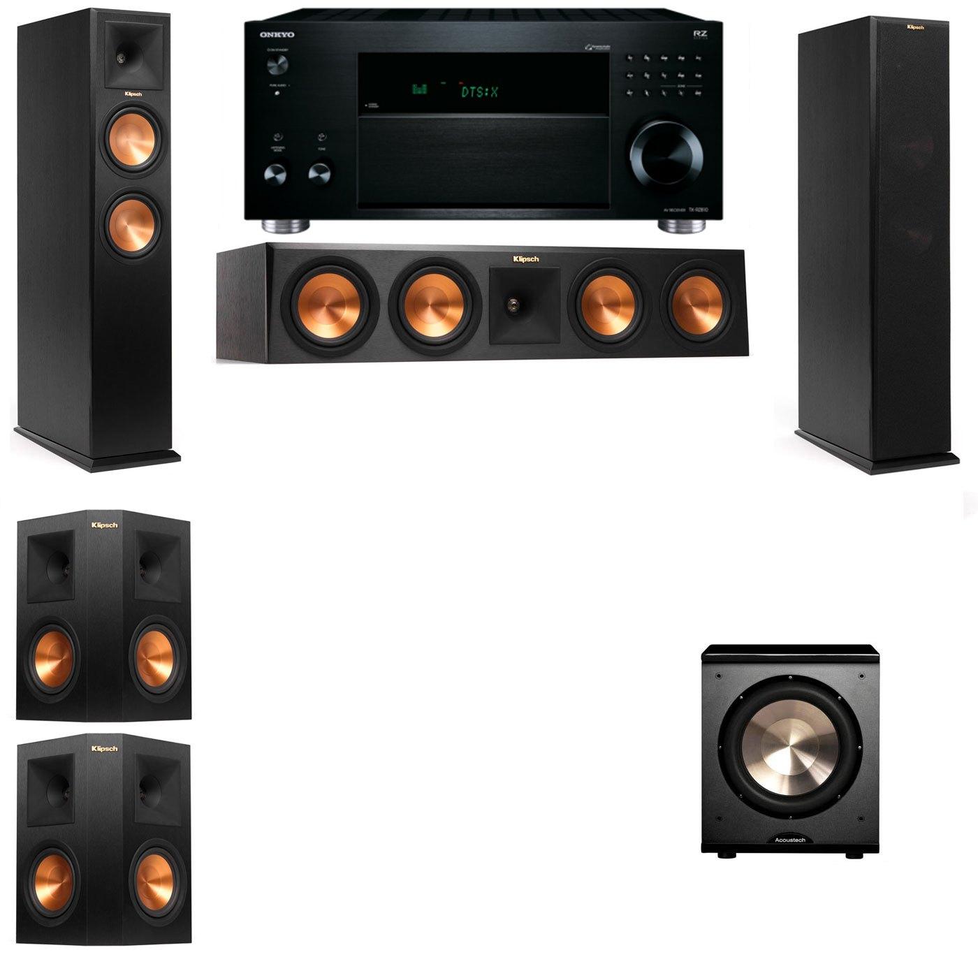Klipsch RP-260F Tower Speakers-PL-200-5.1-Onkyo TX-RZ810