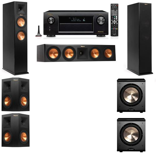 Klipsch RP-260F Tower Speakers-PL-200-5.2-Denon AVR-X3200W
