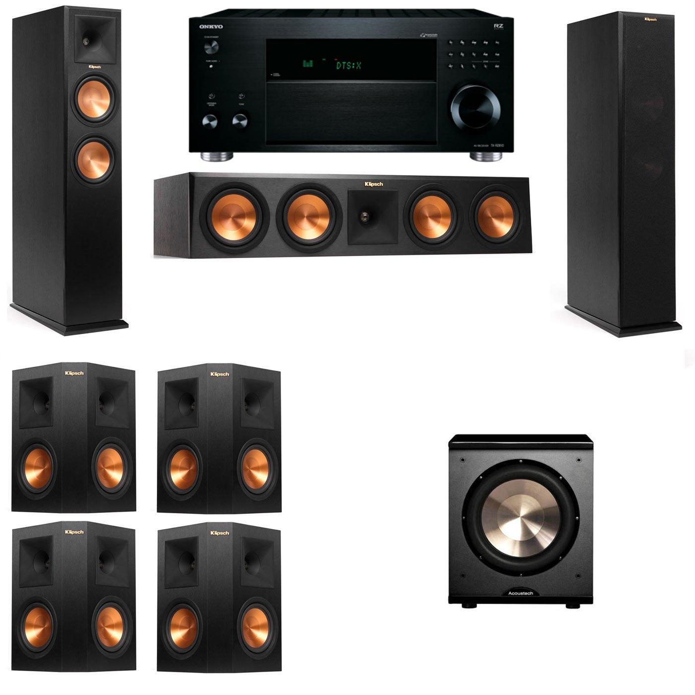 Klipsch RP-260F Tower Speakers-PL-200-7.1-Onkyo TX-RZ810