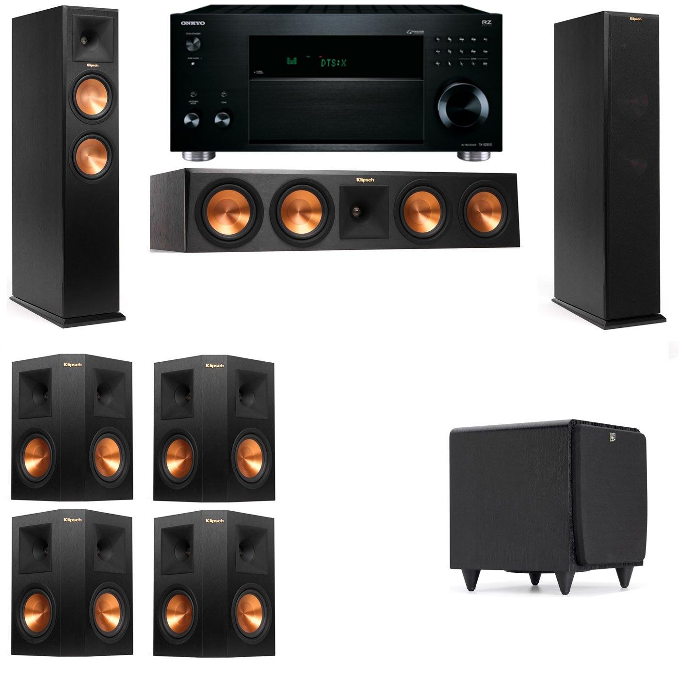 Klipsch RP-260F Tower Speakers-SDS12-7.1-Onkyo TX-RZ810
