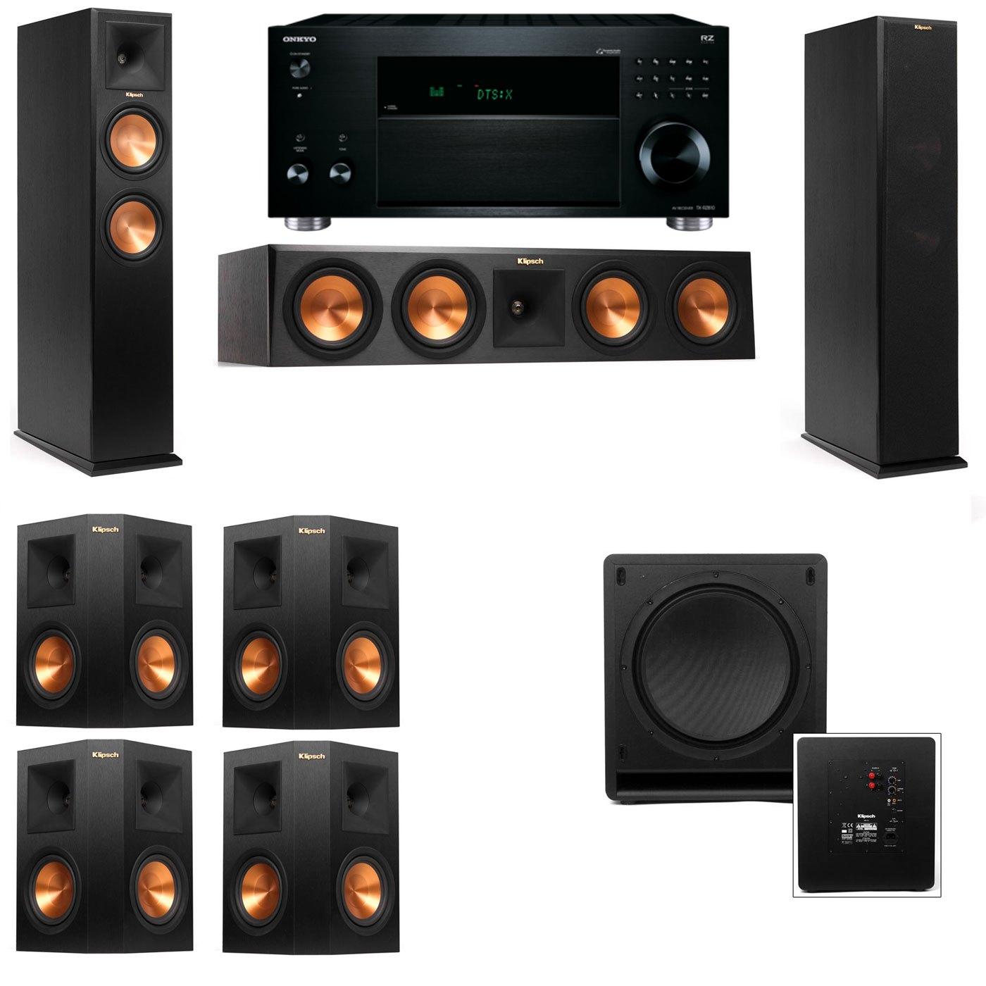 Klipsch RP-260F Tower Speakers-SW-112-7.1-Onkyo TX-RZ810