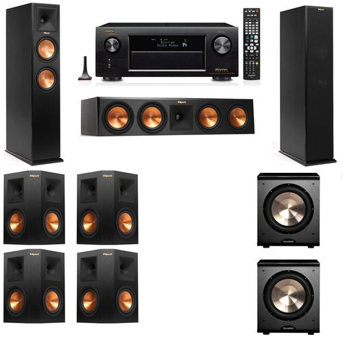 Klipsch RP-260F Tower Speakers-PL-200-7.2-Denon AVR-X4200W