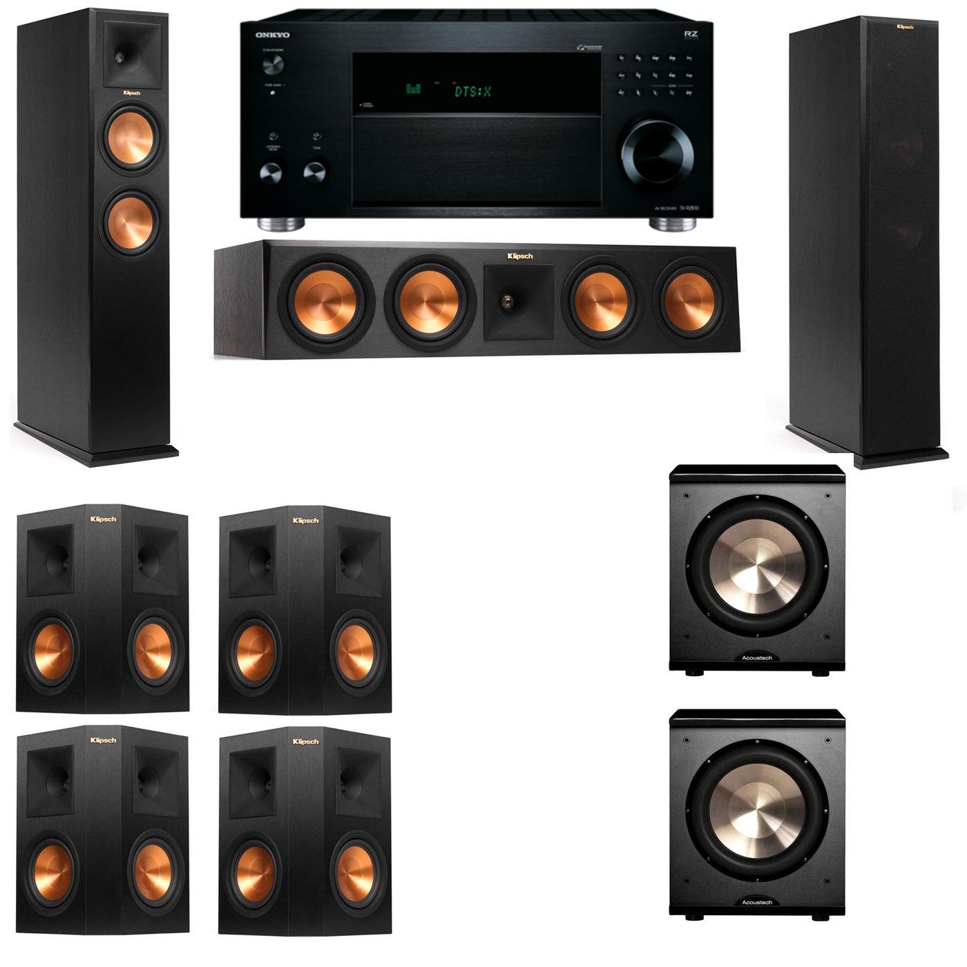 Klipsch RP-260F Tower Speakers-PL-200-7.2-Onkyo TX-RZ810