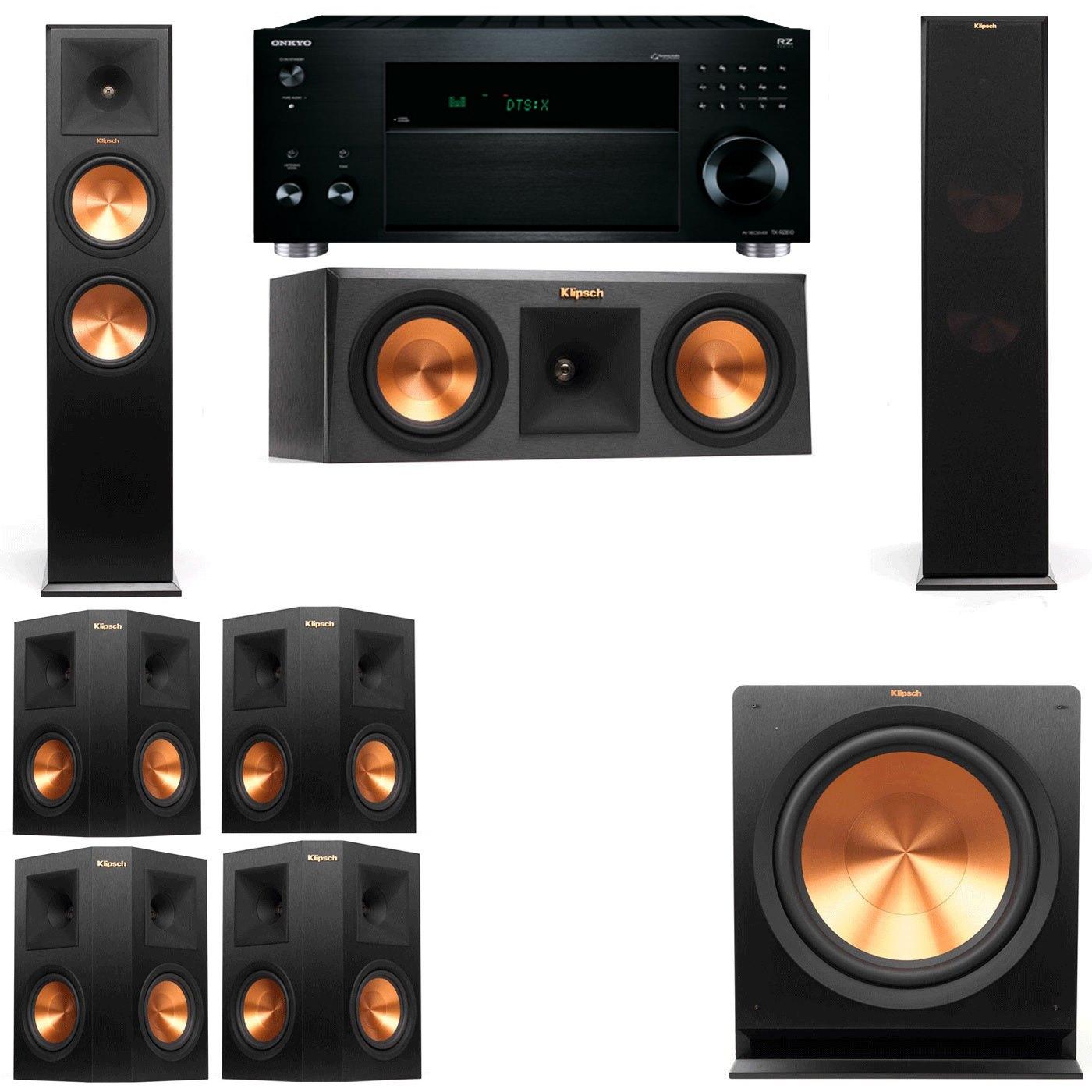 Klipsch RP-280F Tower Speakers-RP-250C-R112SW-7.1-Onkyo TX-RZ810