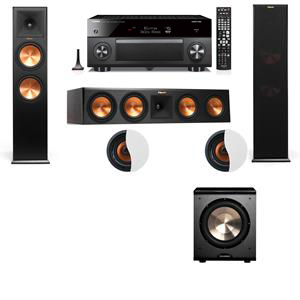 Dolby Atmos 3.1.2 Klipsch RP-280F Tower Speakers PL-200 with Yamaha RX-A3060