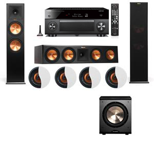 Dolby Atmos 3.1.4 Klipsch RP-280F Tower Speakers PL-200 with Yamaha RX-A3060