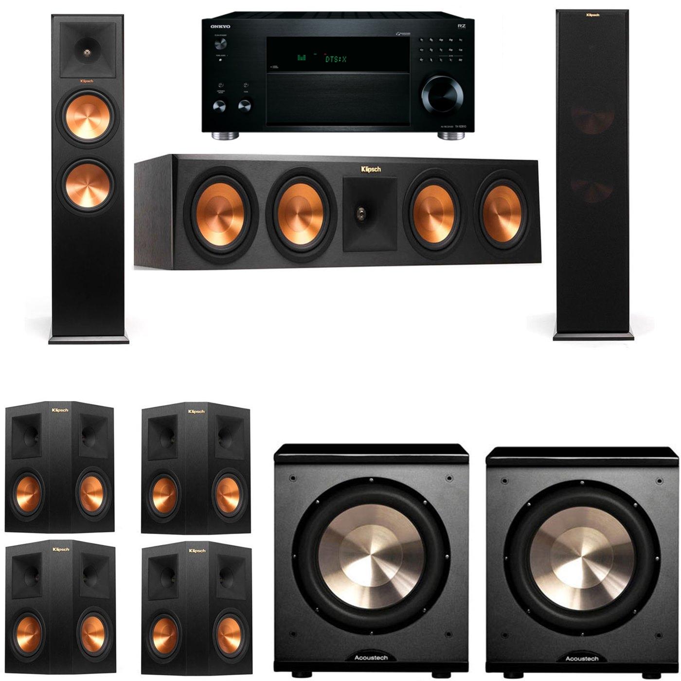 Klipsch RP-280F Tower Speakers-PL-200-7.2-Onkyo TX-RZ810