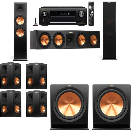Klipsch RP-280F Tower Speakers-7.2-Denon AVR-X3200W