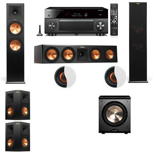 Dolby Atmos 5.1.2 Klipsch RP-280F Tower Speakers PL-200 with Yamaha RX-A3060