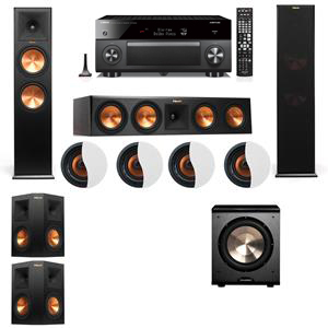 Dolby Atmos 5.1.4 Klipsch RP-280F Tower Speakers PL-200 with Yamaha RX-A3060