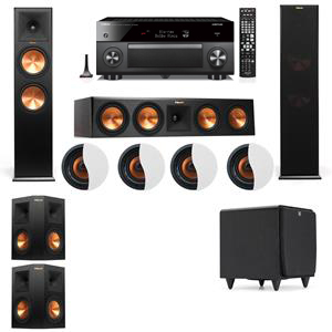 Dolby Atmos 5.1.4 Klipsch RP-280F Tower Speakers SDS12 with Yamaha RX-A3060
