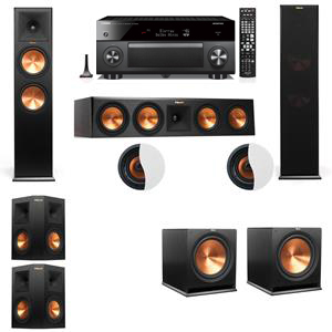 Dolby Atmos 5.2.2 Klipsch RP-280F Tower Speakers with Yamaha RX-A3060