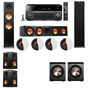 Dolby Atmos 5.2.4 Klipsch RP-280F Tower Speakers PL-200 with Yamaha RX-A3060