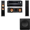 Klipsch RP-280F Tower Speakers-RP-250C-SW-112-3.1-Onkyo TX-NR838