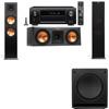 Klipsch RP-280F Tower Speakers-RP-250C-SW-112-3.1-Denon AVR-X4100W
