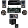 KL-7800-THX 5.1 In-Wall-REAR Ceiling-SW-310-Onkyo TX-NR838 7.2
