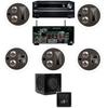Klipsch KL-7502-THX 5.1 In-Ceiling System-Onkyo TX-NR838 7.2-Ch Network- White