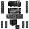 3-KL-6504-THX In-wall 7.1-SW-310 Denon IN-Command AVR-4520CI Receiver