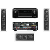 KL-6504-THX In-wall LCR Speaker(3.0) Denon AVR-X4000 IN-Command 7.2