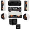 R-5502-W II In-Wall Speaker 5.1-SW-310 Denon AVR-X4000