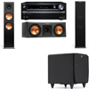 Klipsch RP-280F Tower Speakers-RP-250C-SDS12 -3.1-Onkyo TX-NR838