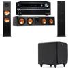 Klipsch RP-280F Tower Speakers-SDS12-3.1-Onkyo TX-NR838