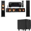 Klipsch RP-280F Tower Speakers-SDS12-3.1-Denon AVR-X4100W