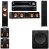 Klipsch RP-280F Tower Speakers-SW-112-5.1-Onkyo TX-NR838