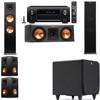 Klipsch RP-280F Tower Speakers-RP-250C-SDS12 -5.1-Denon AVR-X4100W