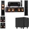 Klipsch RP-280F Tower Speakers-SDS12-5.1-Denon AVR-X4100W