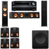 Klipsch RP-280F Tower Speakers-SW-112-7.1-Onkyo TX-NR838