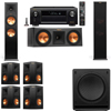 Klipsch RP-280F Tower Speakers-RP-250C-SW-112-7.1-Denon AVR-X4100W