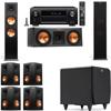 Klipsch RP-280F Tower Speakers-RP-250C-SDS12 -7.1-Denon AVR-X4100W