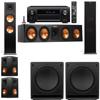 Klipsch RP-280F Tower Speakers-SW-112-5.2-Denon AVR-X4100W