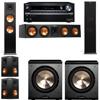 Klipsch RP-280F Tower Speakers-PL-200-5.2-Onkyo TX-NR838