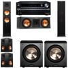 Klipsch RP-280F Tower Speakers-RP-250C-PL-200-5.2-Onkyo TX-NR838